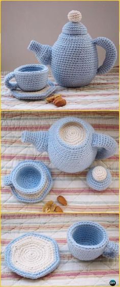 Crochet Teapot and Cup Set Free Pattern - Crochet Teacup Patterns