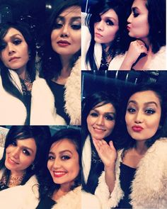 Nehu nd her sissii😘❤ Neha Kakkar Dresses, Sonu Kakkar, Thick Girl Fashion, Bollywood Actors, Celebs, Celebrities, Dimples, Bride, Female