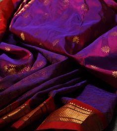 Purple & Pink Paithani Silk Saree