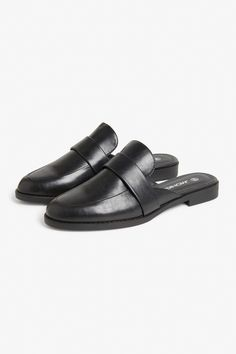 Monki Loafer mules in Black