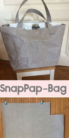 Nähen mit SnapPap - Anleitung und Ideen zum Nähen mit veganem Leder Tasche nach japanischem Schnittmuster