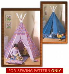 TEEPEE PATTERN / Fun Playhouse Tent / Tee Pee / by WhatCameFirst, $6.99