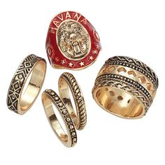 Set of 5 antiqued goldtone metal rings for the fashionista to finish off her summer look! Regularly $26.00, shop Avon Jewelry online at http://eseagren.avonrepresentative.com