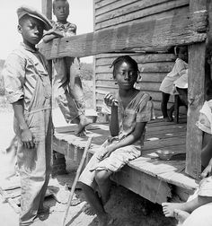 """Mississippi Delta Negro children;"" photo and title by Dorothea Lange, July 1936, in Mississippi (based on adjacent image at Library of Congress)  http://www.zazzle.com/exit78/mississippi+delta+children+gifts  http://www.zazzle.com/exit78* (pinned by haw-creek.com)"