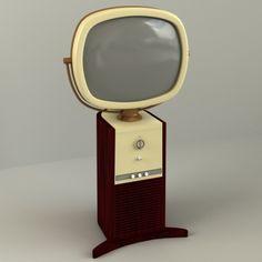 Vintage Televison Electronics 3D Models