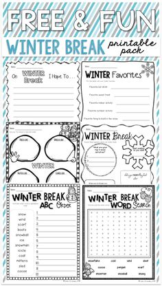 winter break sharing page bie the classroom  a printable winter break bie for when your students are bouncing off the walls before