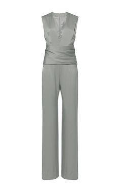Satin Wrap Jumpsuit by GALVAN for Preorder on Moda Operandi
