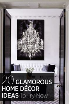 Add a touch of glamour to your home with these interior design ideas.