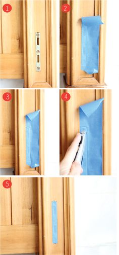 DIY:  A Nifty Little Taping Trick - time-saving trick when painting around hardware.