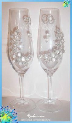 romantic ideas for wedding glasses - crafts ideas - crafts for kids