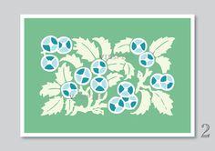 Floral art print illustration nature flower art by Vinspiro, $18.00