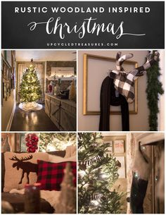 Check out this Rustic Woodland Inspired Christmas decor filled with DIY projects and upcycled finds!