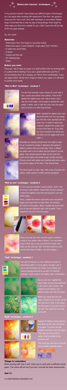 Watercolor tutorial part 3 by Melimaiel.deviantart.com on @deviantART