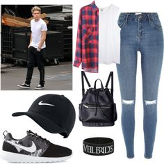 Niall girl (meet Niall and date w/ Niall) by sudachikotarou on Polyvore featuring polyvore, fashion, style, River Island and NIKE