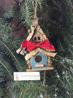 #Birdhouse #Christmas #Ornament #Gift #Holiday #DIY Michelle Dornstreich by BirdhousesByMichelle on Etsy