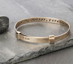 Mother Quote Bronze Bracelet Mom Bracelet by HouseofMetalworks