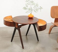Mid Century Modern Danish 1950s Rosewood Occasional Table