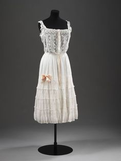 Petticoat, c 1905, England. These were worn under dresses to give them shape and volume.