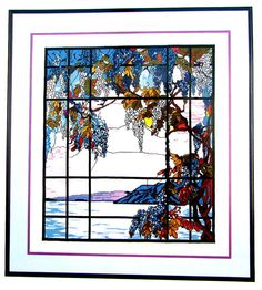 """Cross Stitch Book, """"View From Oyster Bay"""". By Kappie Originals, The Collector's Gallery a Vintage  Chart of Louis C. Tiffany..//On SPECIAL!"""