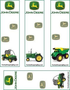 Free John Deere downloadable/printable bookmarks and other printable items for personal use.