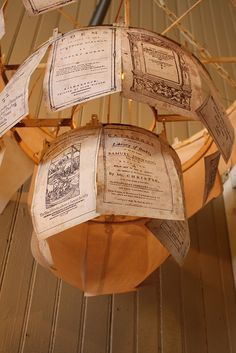 Ephemera Chandelier, via Flickr.