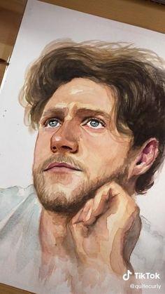 Potrait Painting, Watercolor Portrait Painting, Watercolor Art Face, Watercolor Art Lessons, Portrait Art, Watercolor Illustration, Simple Watercolor, Watercolor Trees, Tattoo Watercolor