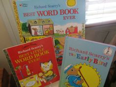 Richard scarry books lot of 3 1991 - 1996