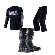 Oneal Demolition 85 Jersey, Apocalypse Pants, and Element Boots Package Dirt Bike Gear, Bike Stuff, Apocalypse, Motorcycle Jacket, Boots, Jackets, Fashion, Crotch Boots, Down Jackets