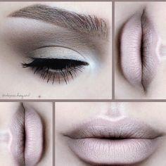 Stunning nude lip design by @depechgurl. More: http://blog.furlesscosmetics.com/depeche-gurl/