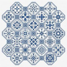 Blackwork Panel 3 PDF download pattern, chart