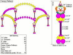 Clown Balloon Arch Canopy