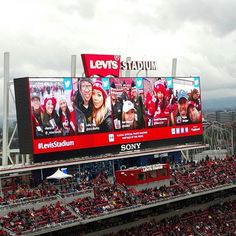 Yay! Made the big screen again! #49ers #tagboard #levisstadium #wewon