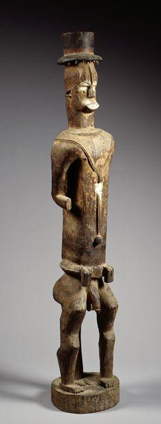Shrine Figure (Edjo Re Akare) Nigeria, Urhobo. Late 19th – early 20th centuries Wood, pigment READ note