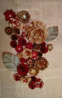 Quadrinho com flores de scrapp