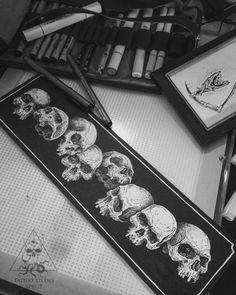 Фото тату Алексей Бурков - Тату черепа эскиз