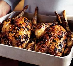 A succulent chicken roast, full of herby flavour - the mustard adds a great new taste