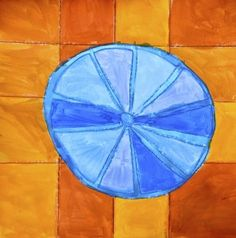 Citrus fruits in complementary colors Fruit Art Kids, Elements Of Art, Art Club, Preschool Activities, Shapes, Creative, Citrus Fruits, Painting, Third Grade