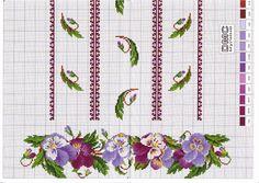 (3) Gallery.ru / Фото #3 - ***** - celita Cross Stitch Borders, Cross Stitch Flowers, Cross Stitch Charts, Cross Stitch Patterns, Ribbon Embroidery, Machine Embroidery, Blackwork, Cloth Flowers, Quilt Stitching
