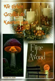 Fijne avond ( plaatjes van Jackie ) Good Evening Messages, Good Night, Table Decorations, Furniture, Afrikaans, Home Decor, Sweet Dreams, Tips, Nighty Night