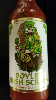 Boyles Irish Scream Hot Sauce with a wee bit O' whiskey....really it does....at Camouflage Dave's. www.bonanza/booths/Camodavemanmusthaves