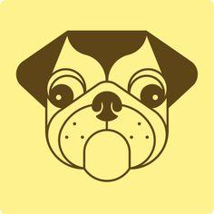 Adria Molins #threefivefifty #09 #sticker #3550 #design #ilustration #yellow #brown #street #art #barcelona #popstar #ra #dog