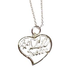 Little Sister Silver Heart Necklace | Key Your Spirit, LLC http://www.keyyourspirit.com/collections/sorority-apparel/products/little-sister-silver-heart-necklace?variant=4070246275