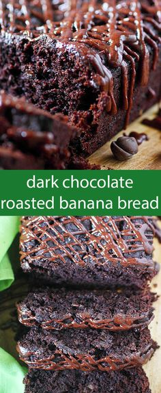 Dark chocolate and roasted ripe bananas join forces to make this Dark Chocolate…