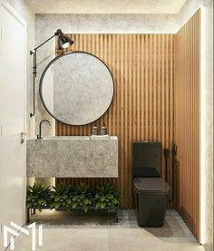 industrial bathroom decor with black toilet Bad Inspiration, Bathroom Inspiration, Modern Bathroom, Small Bathroom, Bathrooms, Industrial Bathroom, Bathroom Sink Units, Washbasin Design, Toilet Design