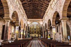 El interior de la Catedral de la Inmaculada Concepción de Barichara