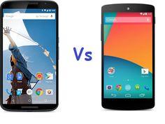 Comparison between Nexus 6 Vs Nexus 5. There is vast difference between these Nexus smart-phones in terms of Nexus 6 Price and Nexus 5 Price and also the major one is Android Lollipop.
