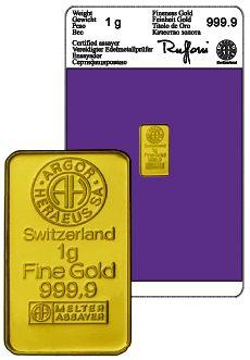 Gold 1 Gram Ingot
