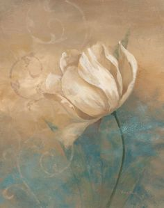 Love the brown and blue in this painting Arte Floral, Art Plastique, Painting Inspiration, Painting & Drawing, Tulip Painting, Flower Art, Beautiful Flowers, Art Projects, Illustration Art