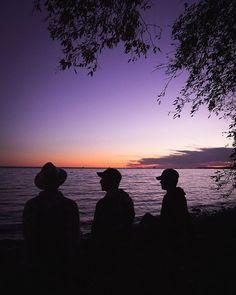 Reposting @bradyknoll: Best friends & sunsets.