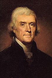 Thomas Jefferson-3rd President...His beloved Monticello is pure genius.  Quote:  In matters of style, swim with the current;  In matters of principle, stand like a rock.